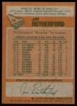 1978 Topps #74  Jim Rutherford  Back Thumbnail