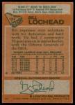 1978 Topps #122  Billy Lochead  Back Thumbnail