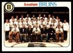 1978 Topps #193   Bruins Team Checklist Front Thumbnail