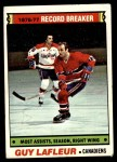 1977 Topps #218   -  Guy Lafleur Record Breaker - Most Assists - Season - Right Wing Front Thumbnail