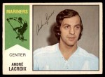 1974 O-Pee-Chee WHA #60  Andre Lacroix  Front Thumbnail