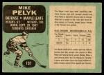 1970 O-Pee-Chee #107  Mike Pelyk  Back Thumbnail