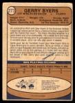 1974 O-Pee-Chee NHL #273  Jerry Byers  Back Thumbnail