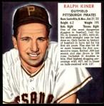1952 Red Man #12 NL x Ralph Kiner  Front Thumbnail