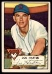 1952 Topps #194  Joe Hatten  Front Thumbnail