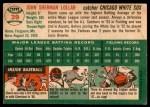 1954 Topps #39 WHT Sherm Lollar  Back Thumbnail