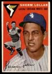 1954 Topps #39 WHT Sherm Lollar  Front Thumbnail