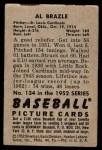 1952 Bowman #134  Al Brazle  Back Thumbnail