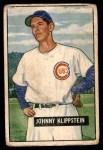 1951 Bowman #248  Johnny Klippstein  Front Thumbnail