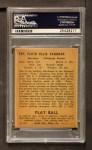 1940 Play Ball #107  Arky Vaughan  Back Thumbnail