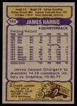 1979 Topps #122  James Harris  Back Thumbnail