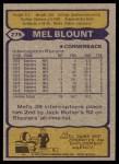 1979 Topps #275  Mel Blount  Back Thumbnail