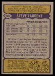 1979 Topps #198  Steve Largent  Back Thumbnail