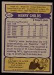 1979 Topps #143  Henry Childs  Back Thumbnail