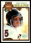 1979 Topps #92  Gary Fencik  Front Thumbnail