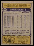 1979 Topps #456  Jake Scott  Back Thumbnail