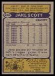1979 Topps #456  Jake Scott  Back Thumbnail