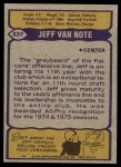 1979 Topps #337  Jeff Van Note  Back Thumbnail