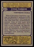 1979 Topps #371  Steve Furness  Back Thumbnail