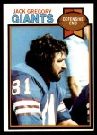 1979 Topps #291  Jack Gregory  Front Thumbnail