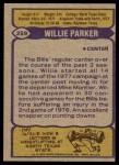 1979 Topps #259  Willie Parker  Back Thumbnail