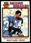 1979 Topps #336   -  Rickey Young Record Breaker Front Thumbnail