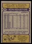 1979 Topps #350  Ken Houston  Back Thumbnail