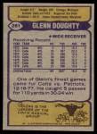 1979 Topps #261  Glenn Doughty  Back Thumbnail