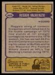 1979 Topps #468  Reggie McKenzie  Back Thumbnail