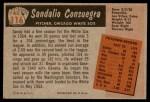 1955 Bowman #116  Sandy Consuegra  Back Thumbnail