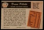 1955 Bowman #244  Duane Pillette  Back Thumbnail