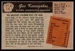 1955 Bowman #14  Gus Keriazakos  Back Thumbnail