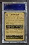 1953 Parkhurst #64  Allan Stanley  Back Thumbnail