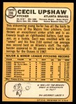 1968 Topps #286  Cecil Upshaw  Back Thumbnail