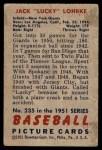 1951 Bowman #235  Jack Lohrke  Back Thumbnail