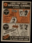 1972 Topps #34   -  Billy Martin In Action Back Thumbnail