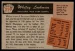 1955 Bowman #219  Whitey Lockman  Back Thumbnail