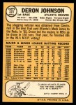 1968 Topps #323  Deron Johnson  Back Thumbnail