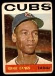 1964 Topps #55  Ernie Banks  Front Thumbnail