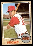 1968 Topps #197  Larry Brown  Front Thumbnail