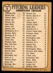 1968 Topps #10 ERR  -  Dean Chance / Jim Lonborg / Earl Wilson AL Pitching Leaders Back Thumbnail