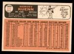 1966 Topps #372  Harvey Kuenn  Back Thumbnail