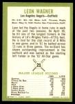 1963 Fleer #21  Leon Wagner  Back Thumbnail