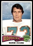 1975 Topps #234  Norm Evans  Front Thumbnail