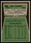 1975 Topps #158  Jim Turner  Back Thumbnail
