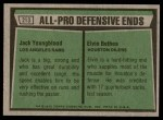 1975 Topps #213   -  Jack Youngblood / Elvin Bethea All-Pro Defensive Ends Back Thumbnail