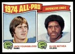 1975 Topps #213   -  Jack Youngblood / Elvin Bethea All-Pro Defensive Ends Front Thumbnail