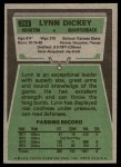 1975 Topps #243  Lynn Dickey  Back Thumbnail