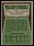 1975 Topps #266  Josh Ashton  Back Thumbnail