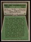 1975 Topps #279  Jim Yarbrough  Back Thumbnail
